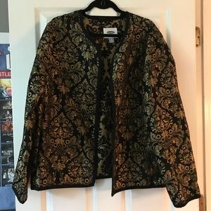 OLD NAVY | gold and black print blazer